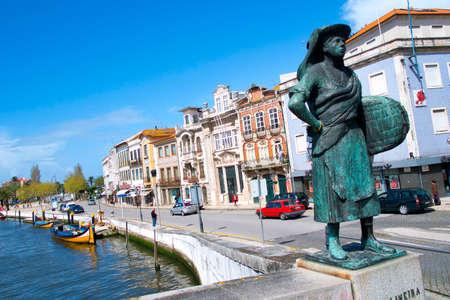 Staute da Salineira, Central Channel, Channels of Lagoon, Ria de Aveiro, Aveiro, Portugal, Europe Editorial