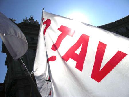 NoTav Flag - Rome, October 15 2011 Protest   Roma, Proteste 15 Ottobre 2011