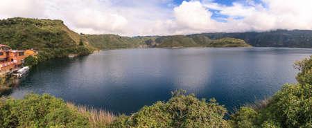 Cuicocha Lake Stock Photo