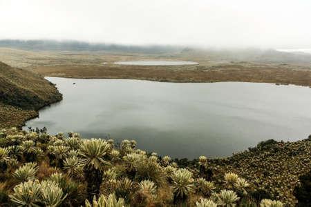 sur: Atillo Lagoon view in a cloudy day Stock Photo