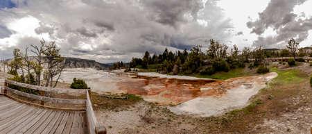 Mamoth hot springs panorama 写真素材
