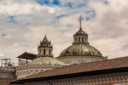 La Compania domes view from San Fransisco plaza
