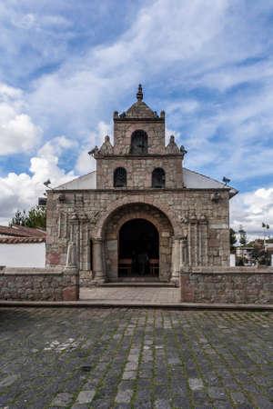 Church in Ecuador near Riobamba Stock Photo
