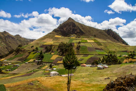 Mountain in central ecuadorian andes panorama view Banque d'images