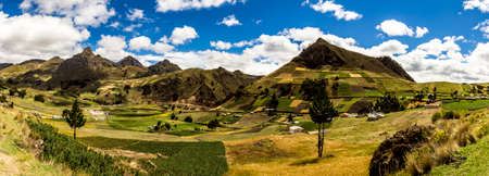 Mountain in central ecuadorian andes panorama view Stock Photo