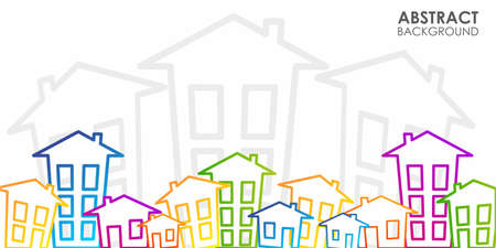 Houses, apartments or real estate illustration.