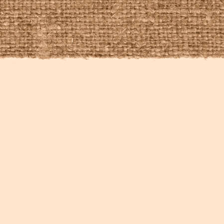 bagging: Textile frame, fabric industry, almond canvas, weave material close-up background