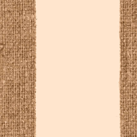 weft: Textile weft, fabric patch, yellow canvas, obsolete material close-up background