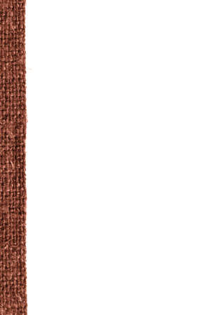 weft: Textile weft, fabric exterior, buckwheat canvas, obsolete material house background Stock Photo