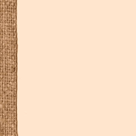 snip: Textile tablecloth, fabric decoration, buff canvas, obsolete material retro-styled background Stock Photo
