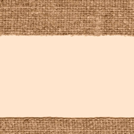 bagging: Textile thread, fabric interior, fawn canvas, rope material bagging background Stock Photo