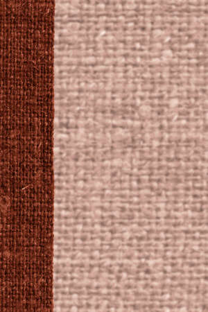 weft: Textile weft, fabric patch, rust canvas, sackcloth material natural background