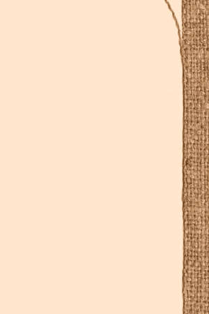 textile image: Textile frame, fabric image, mustard canvas, sackcloth material design background Stock Photo
