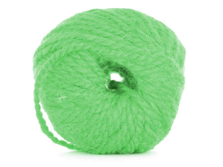 ball of wool: Ball of wool, green texture Stock Photo