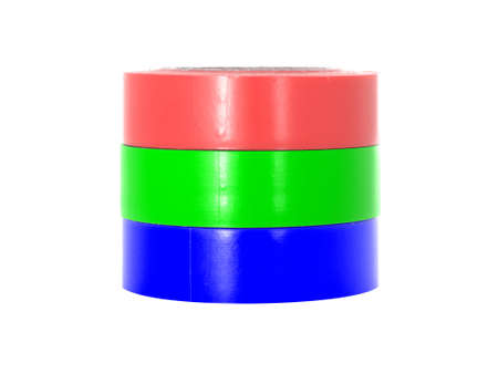 coils: Isolation sticky insulating tape coils. Stock Photo