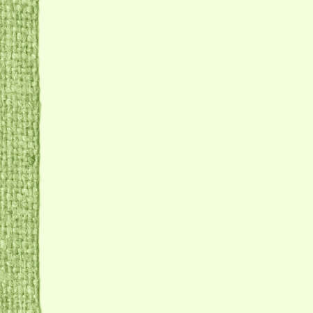 weft: Textile weft, fabric industry, viridian canvas, gunny material blank background Stock Photo