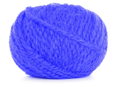 skein: Clew of wool, blue skein Stock Photo