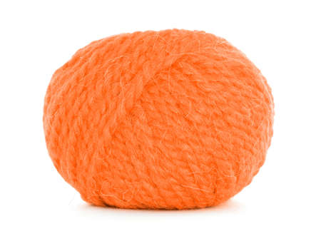 twine: Clew of wool, orange twine