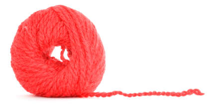 Clew of yarn, tangled texture, isolated on white background Stock Photo