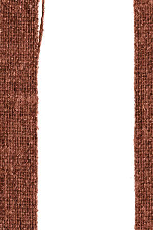 canvas element: Textile linen, fabric element, fawn canvas, aged material empty background