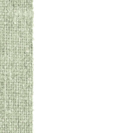 canvas element: Textile frame, fabric element, viridian canvas, rag material art background