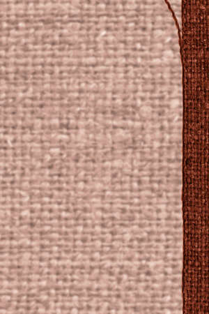 weft: Textile weft, fabric space, rust canvas, jutesack material flat background