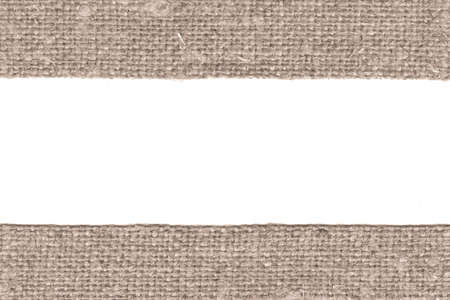 weft: Textile weft, fabric patch, brown canvas, antique material retro-styled background Stock Photo