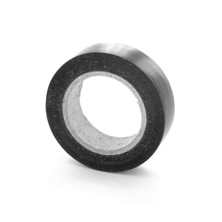 insulating: Black adhesive insulating tape reel.
