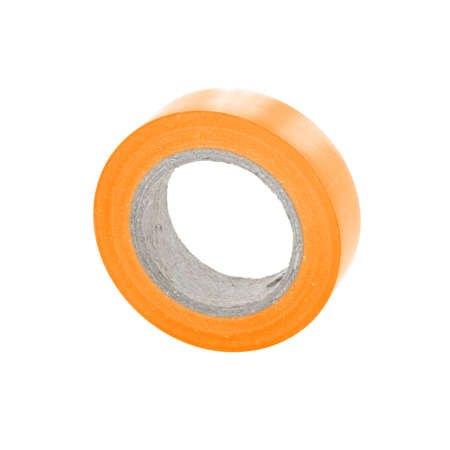 electric material: Isolation sticky insulating tape reel. Stock Photo