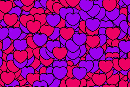 shuffle: Color shapes for Saint Valentines day, greeting decoration