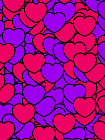definition: Beautiful pattern for Saint Valentines day, high definition decoration Stock Photo