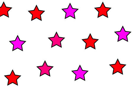 Star pattern based on multiple particles . modern decoration Stock Photo