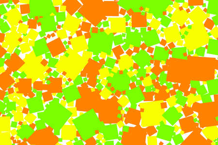 2d: Abstract background with random squares. Pattern for autumn concept.
