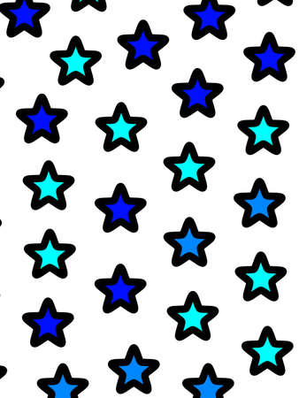 Star background with random shapes . modern decoration Stock Photo