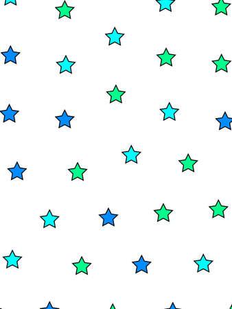 mosaic: Star pattern based on random elements . christmas design