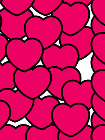 Hearts shapes for Saint Valentines holiday, high definition backdrop Stock Photo