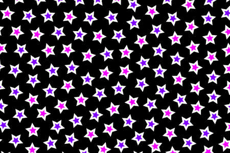 Star pattern based on many shapes for xmas design