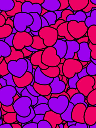 Heart pattern for Saint Valentines day, greeting decoration