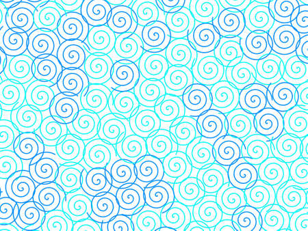 Spiral pattern containing random shapes for your high resolution illustration.