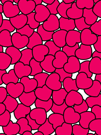 definition: Romantic pattern for Saint Valentines holiday, high definition decoration