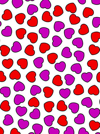 Heart backgrounds for Saint Valentine day, high definition decoration