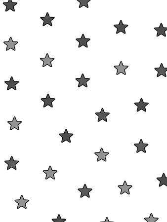 chaos: Star pattern based on random shapes . christmas design