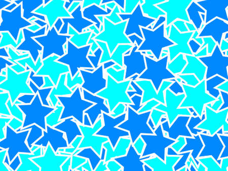 disorganization: Star background containing many shapes . xmas illustration