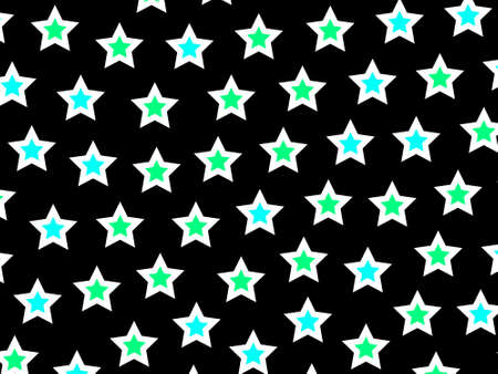 rendered: Star pattern containing many shapes . high definition concept Stock Photo