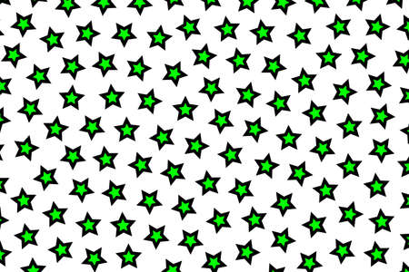 rendered: Star pattern containing multiple shapes for modern concept Stock Photo