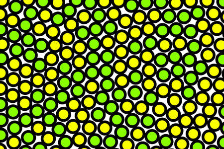 Disks backdrop with flat pattern for your concept