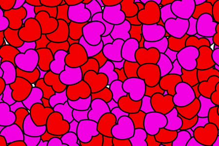 Hearts background for Saint Valentine day, high definition decoration