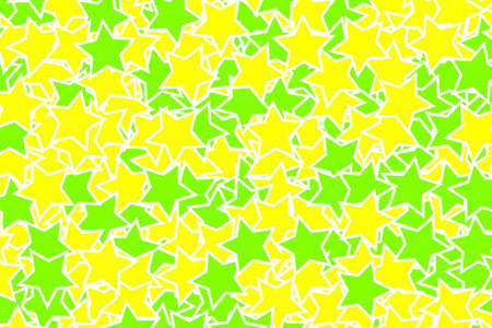 Star pattern containing random elements for xmas illustration Stock Photo
