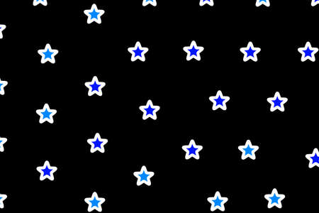 rendered: Star pattern containing random shapes . new year concept