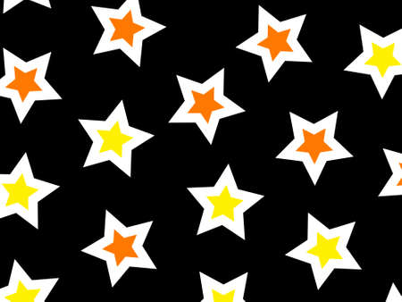 Star pattern based on random particles for new year decoration Stock Photo